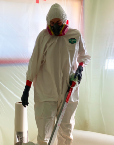Hazard Assessment is to check for the asbestos